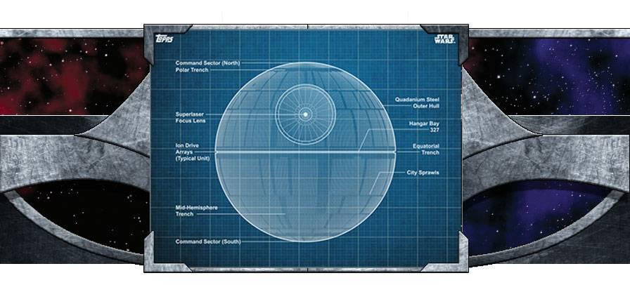 Blueprints Death Star Articles Topps - Death star blueprints